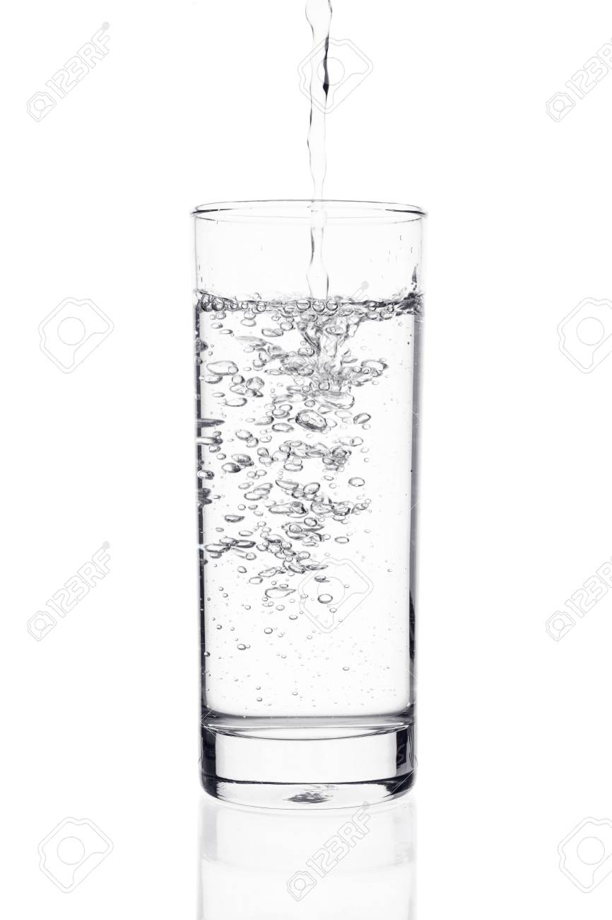 af026dee735 Water splashing from glass isolated on white background Stock Photo -  40947560