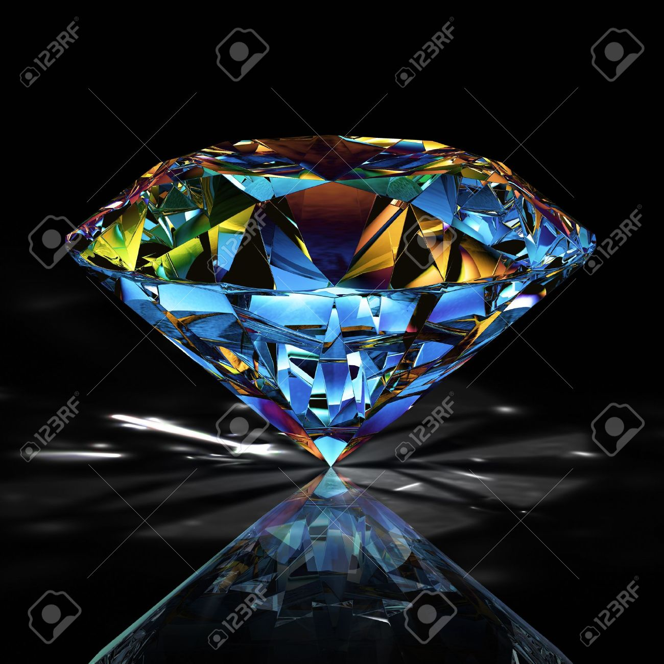 diamond on black background Stock Photo - 8528894