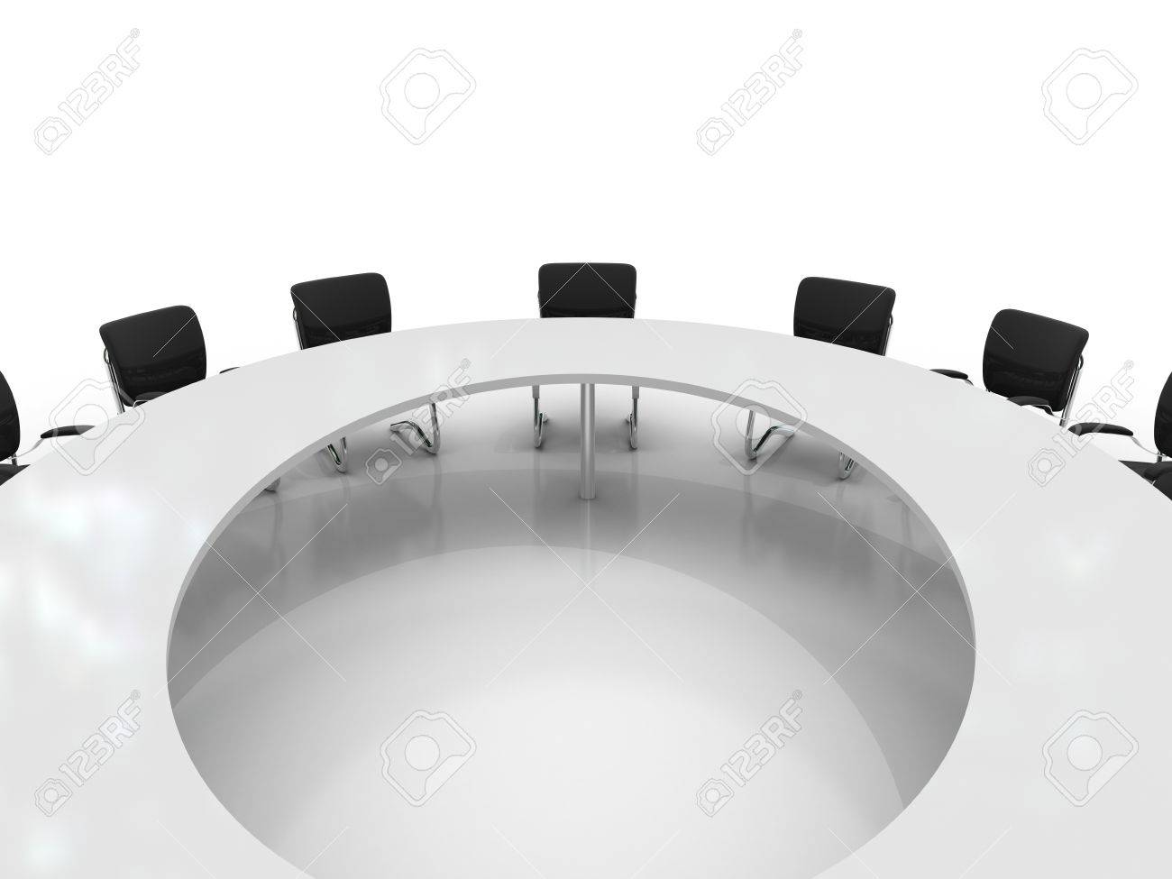 conference table and chairs isolated on white background Stock Photo - 8548179