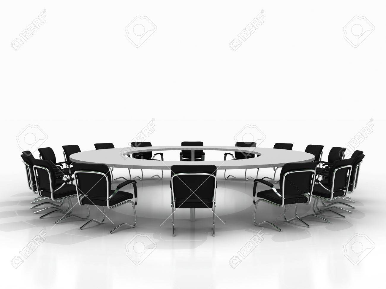 conference table and chairs isolated on white background Stock Photo - 8548255