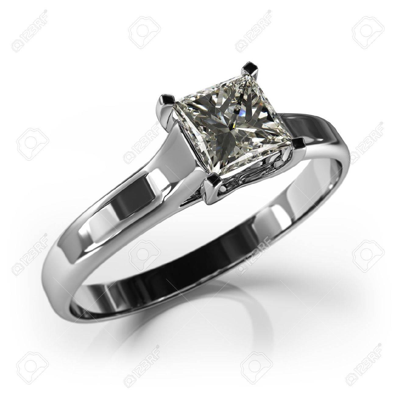 bague or blanc diamant mariage