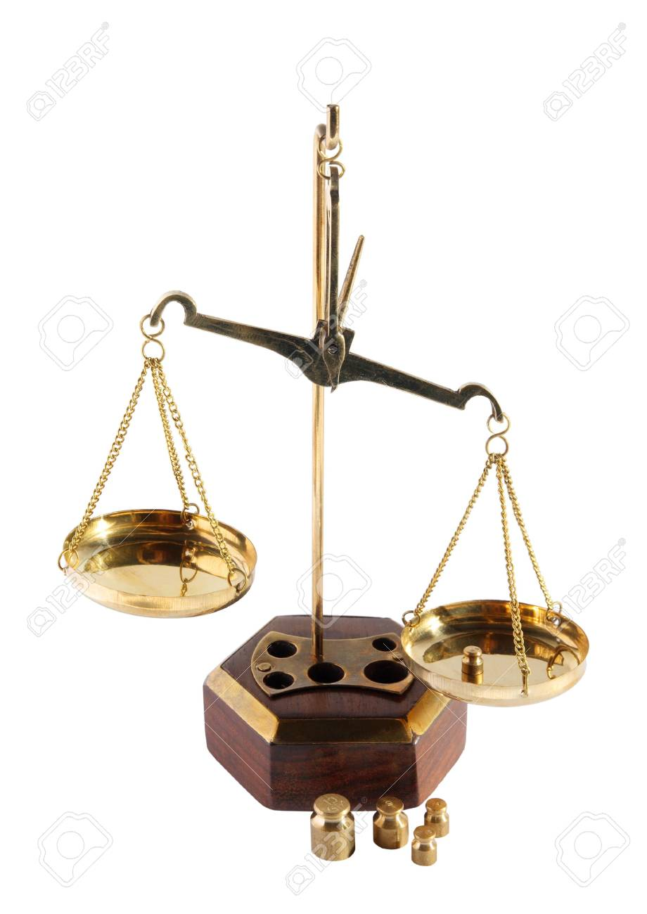 Old scales on a white background Stock Photo - 5029575