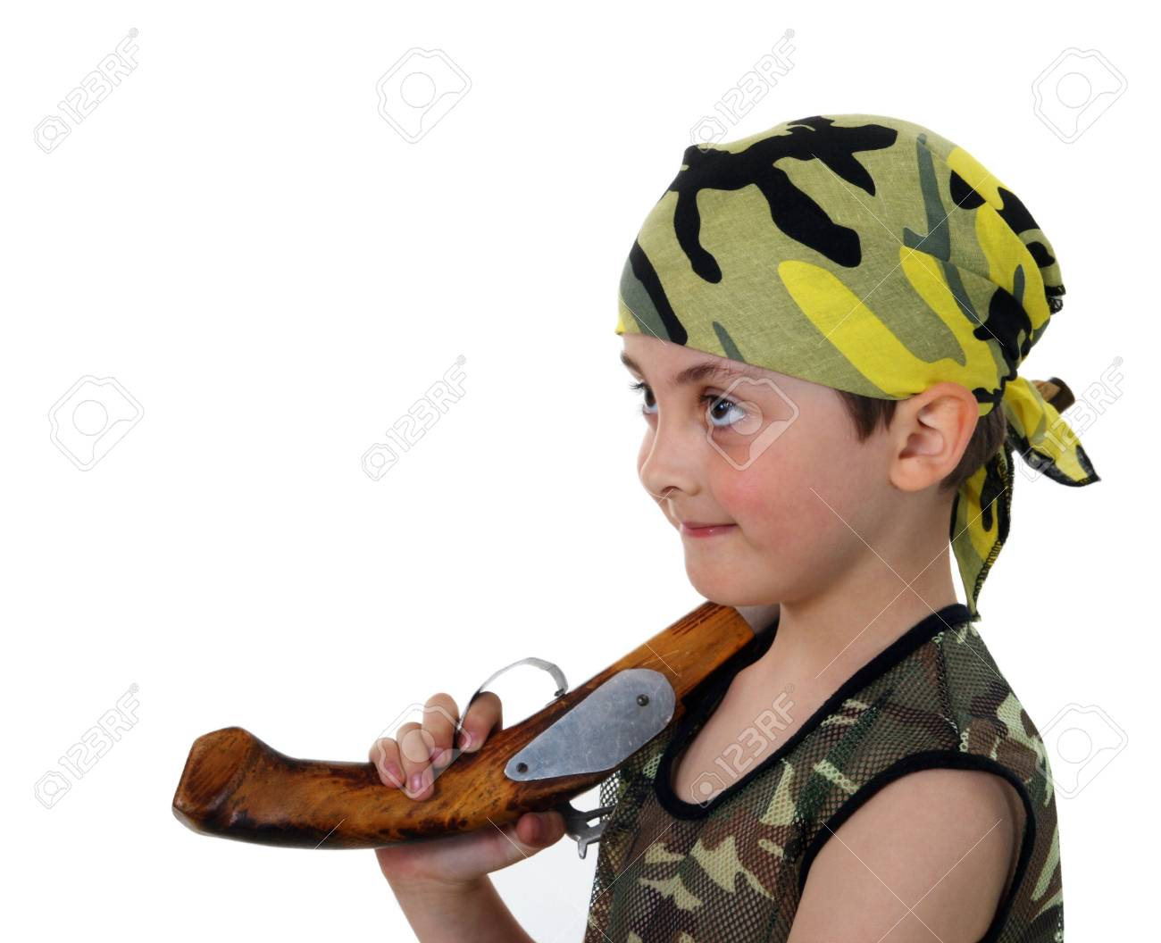 Little boy pirate on a white background Stock Photo - 5141147