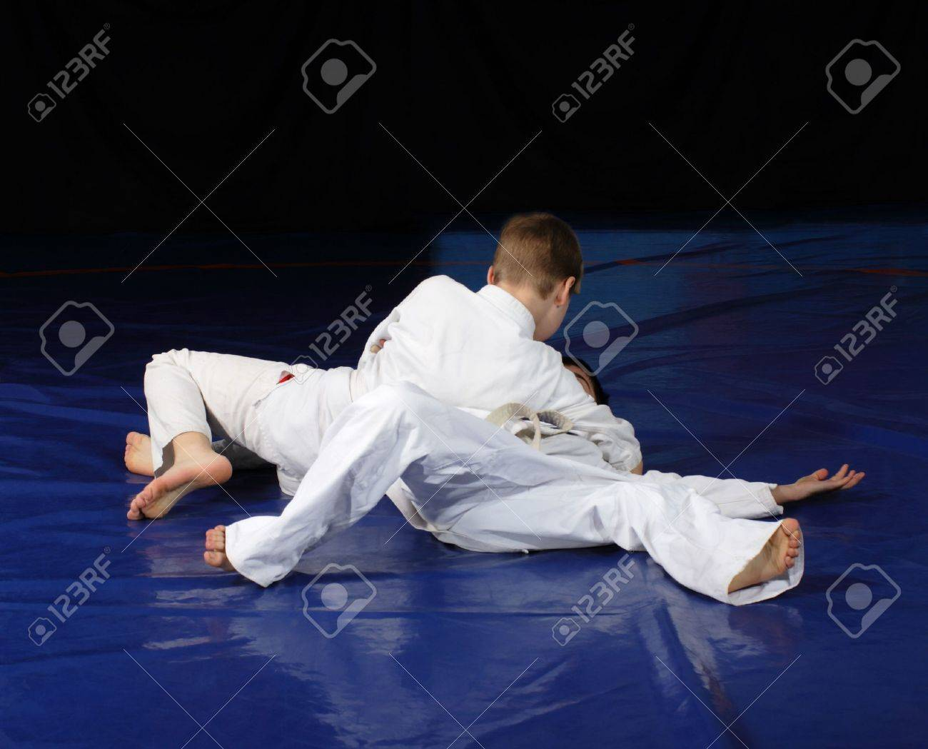 Judo fighting competition Stock Photo - 8421447