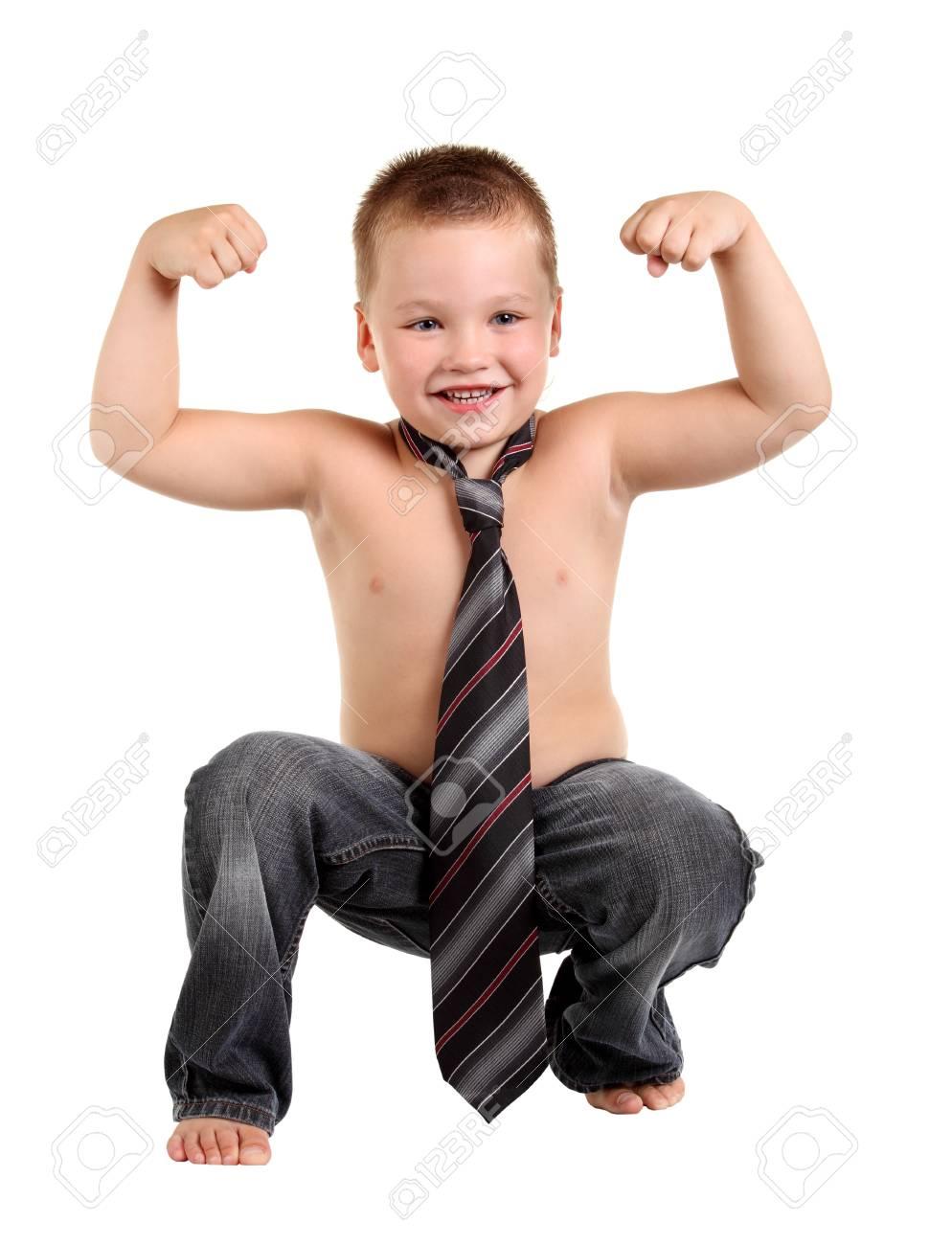 Little boy necktie on the white background Stock Photo - 12163099