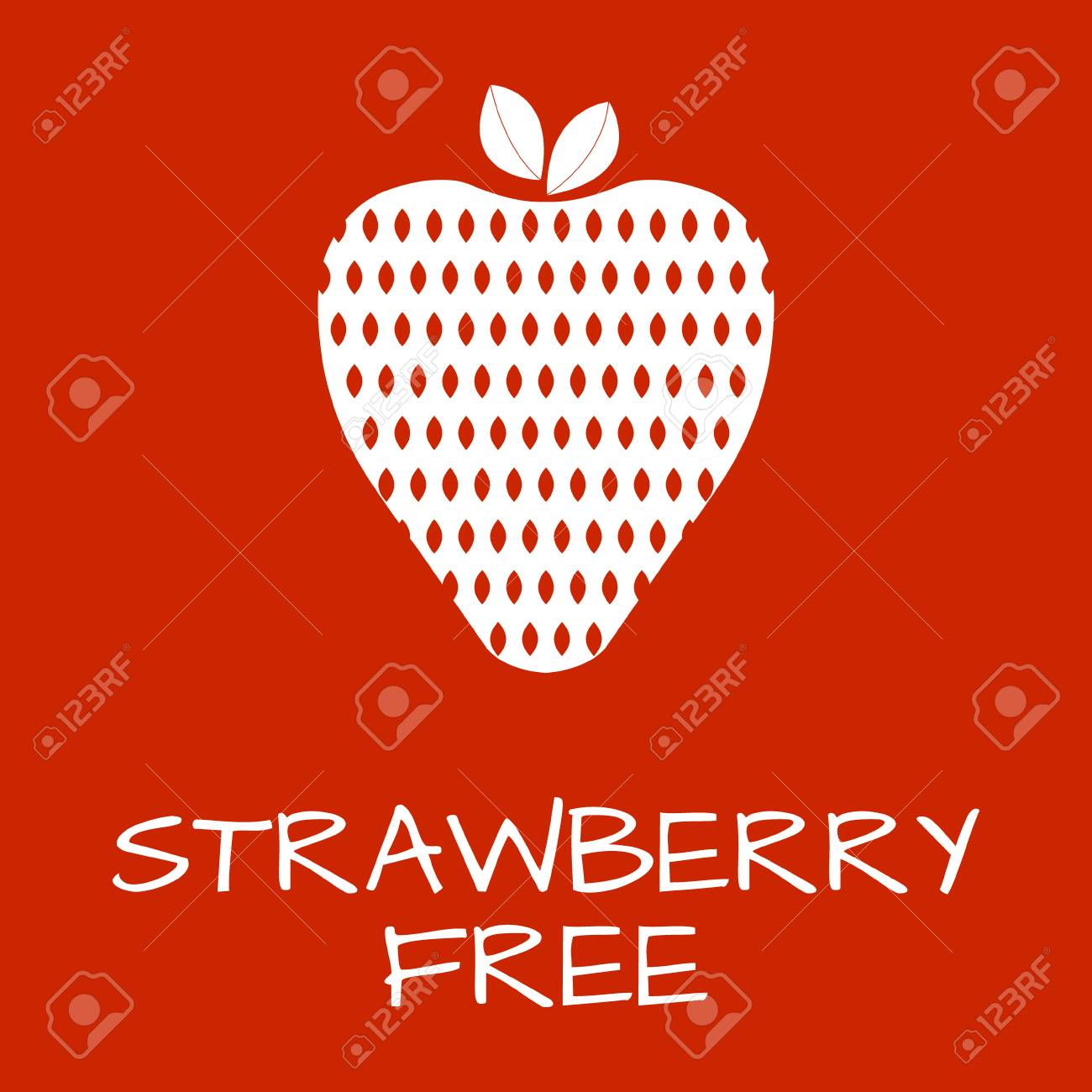 Strawberry free label food intolerance symbols vector strawberry free label food intolerance symbols vector illustration stock vector 61706205 biocorpaavc Images