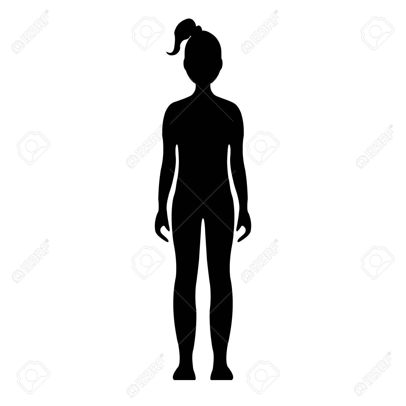 niña frente humano silueta aislado en el fondo blanco ilustración