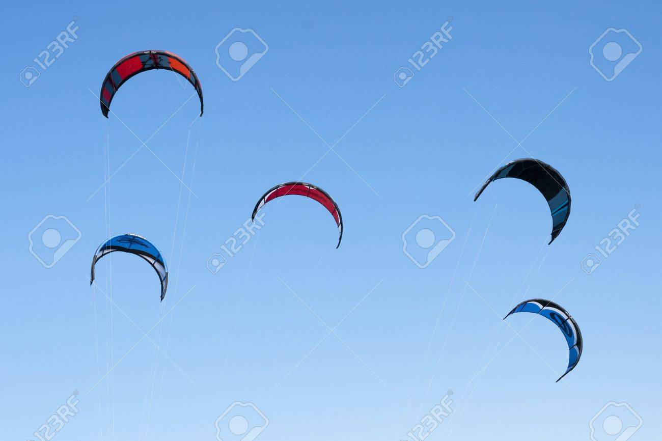 Kites Close up Blue Sky