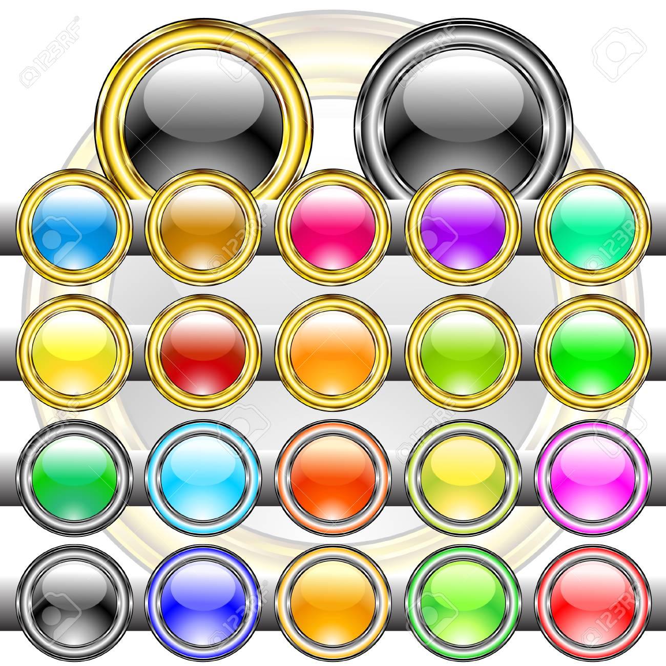 button colored Stock Vector - 5472197