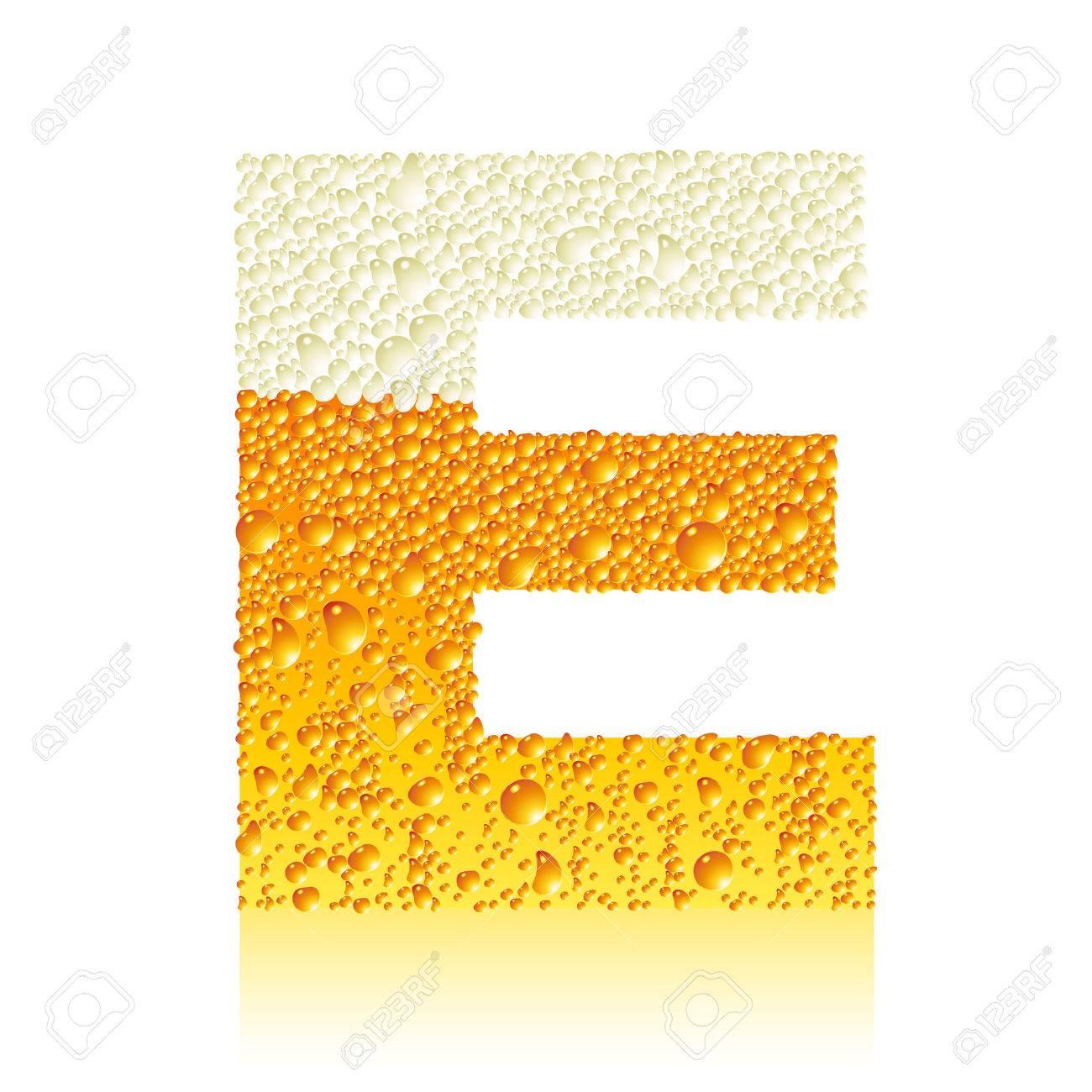 alphabet beer E Stock Vector - 5861827