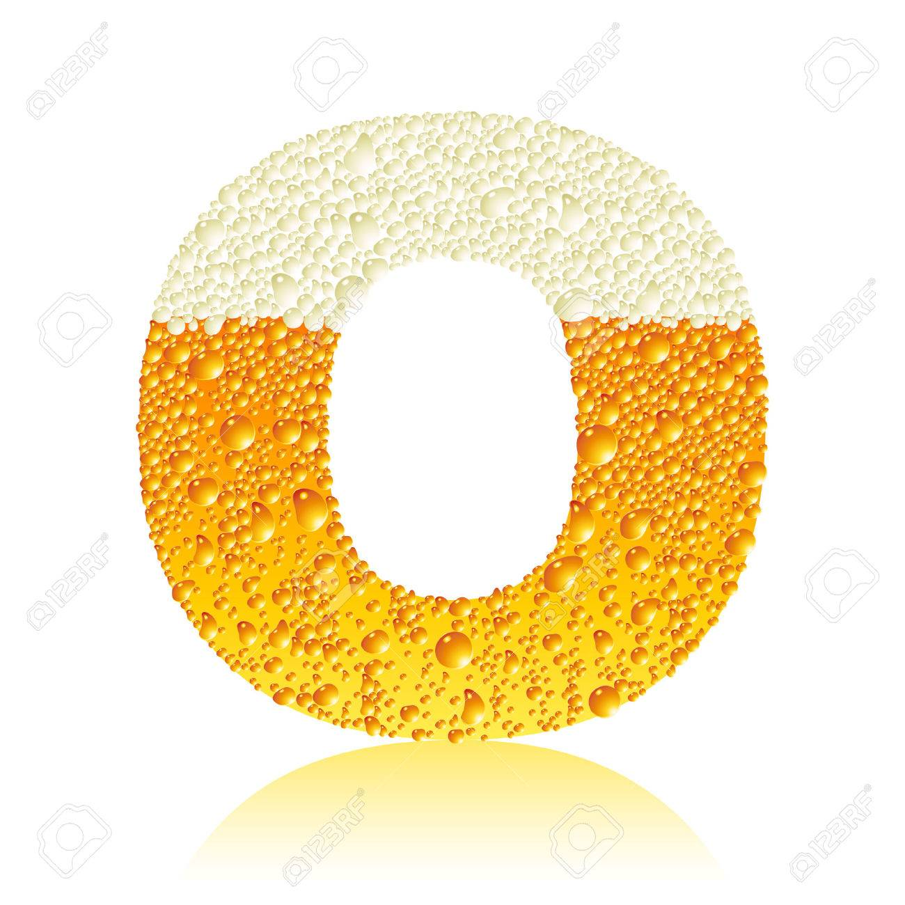 Vector - alphabet beer O O Beer
