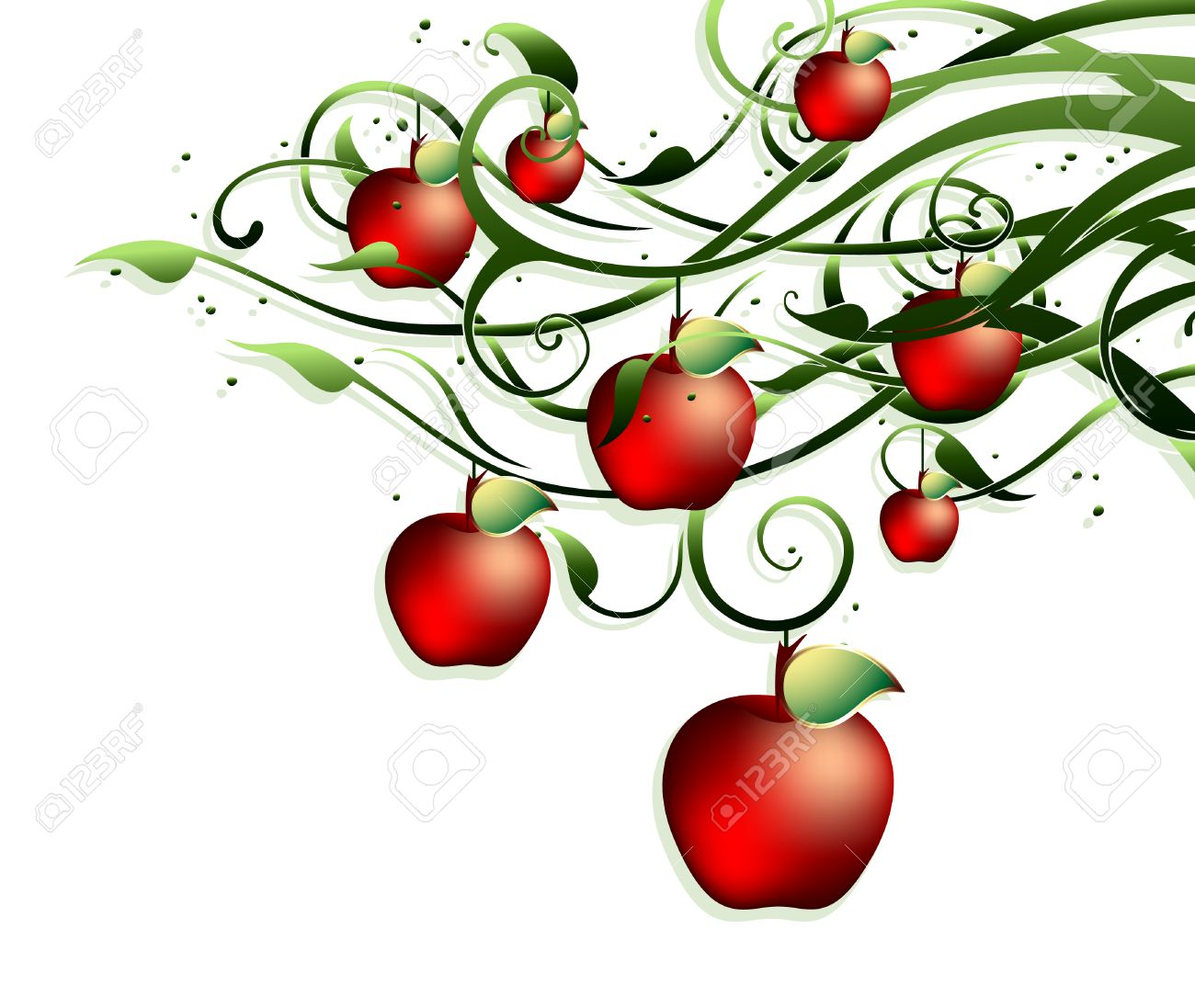 apple background Stock Vector - 6520448