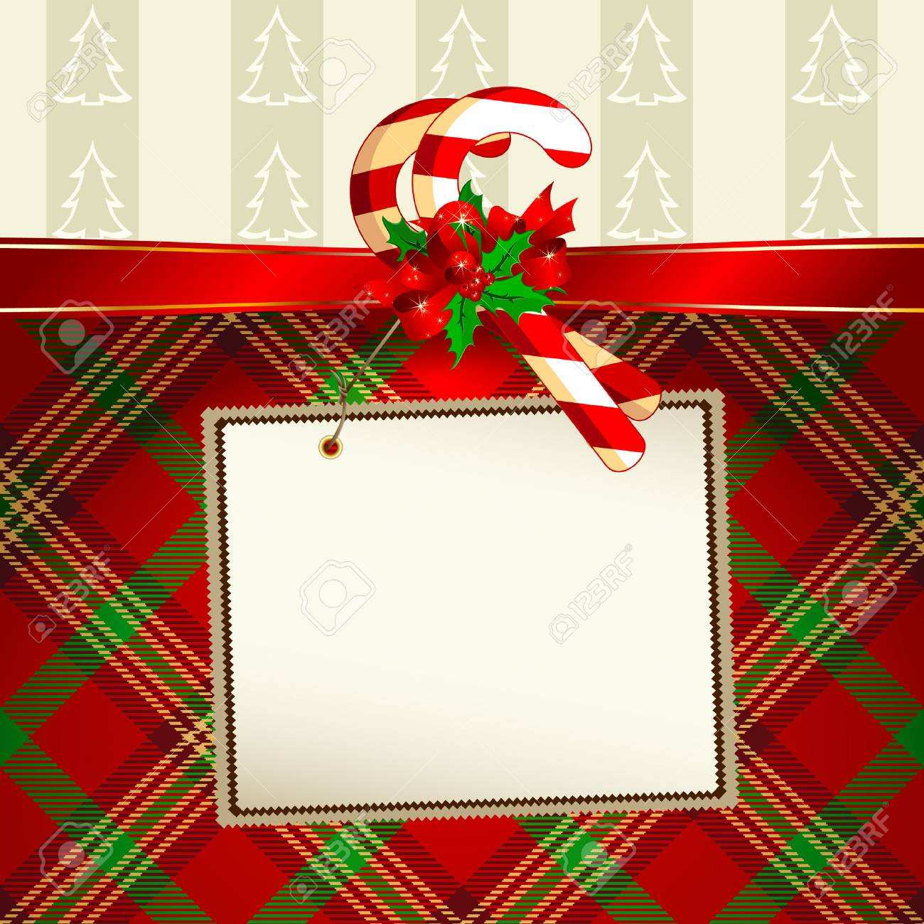 tag with christmas decoration Stock Vector - 8456067