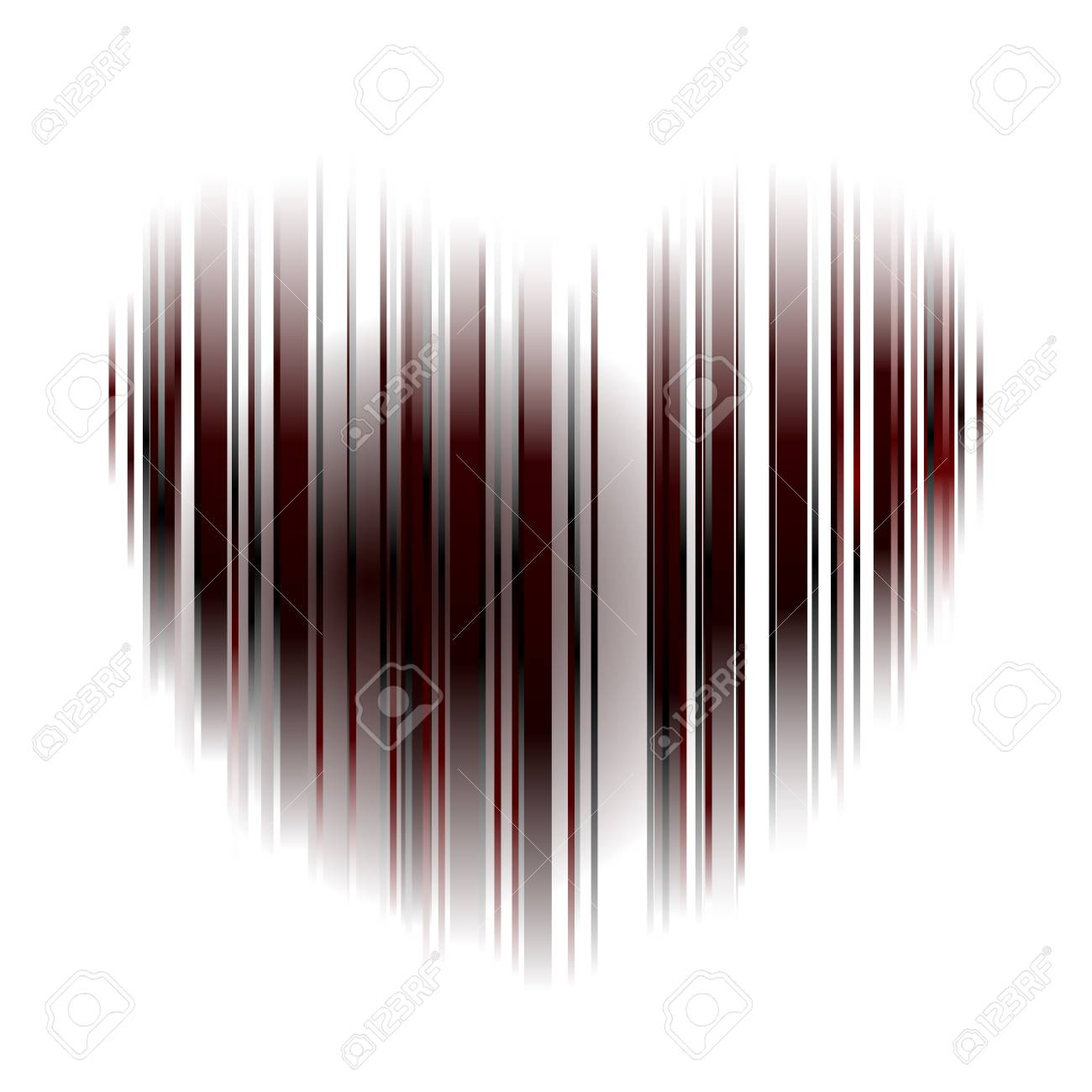 heart striped Stock Vector - 12065547