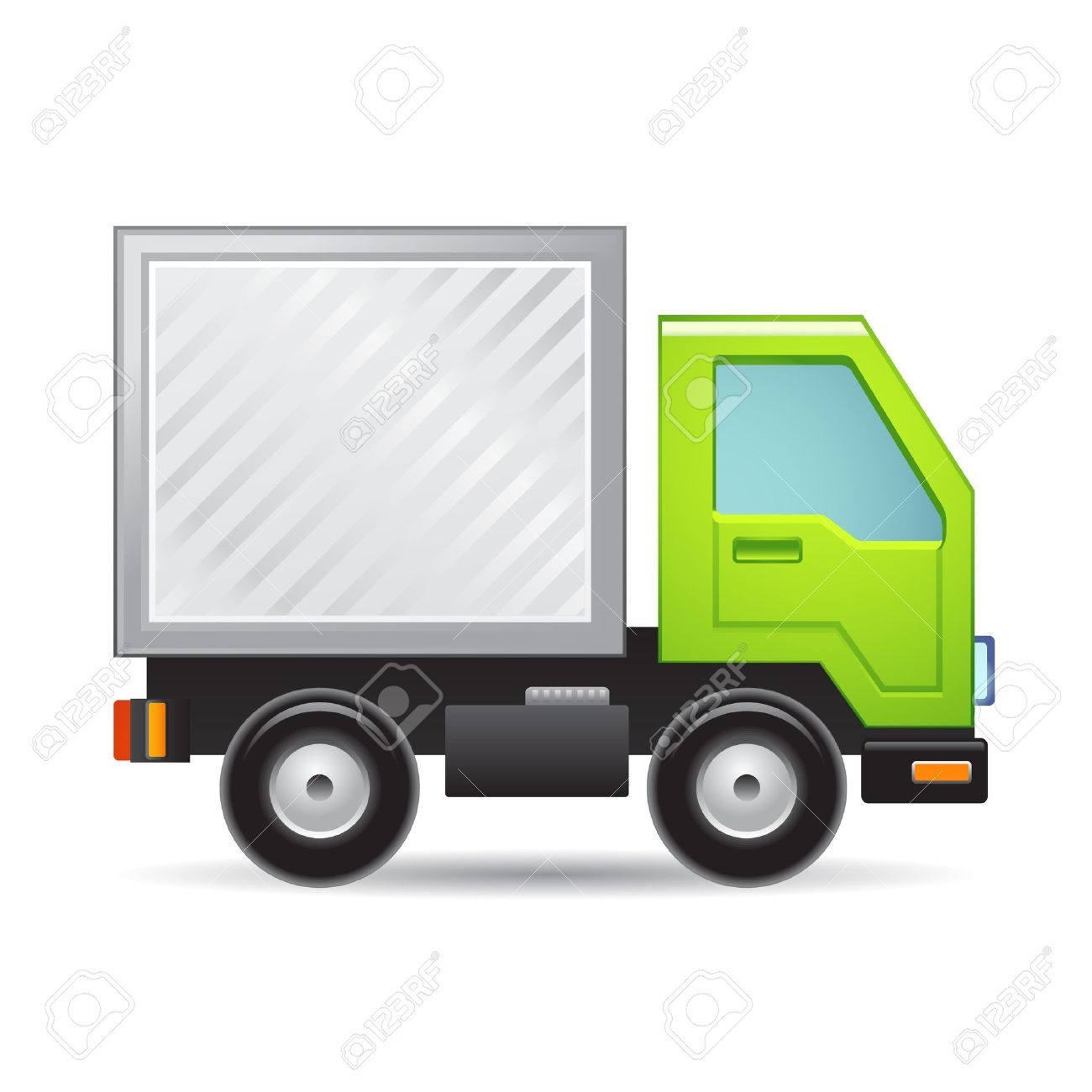 green truck icon royalty free cliparts vectors and stock