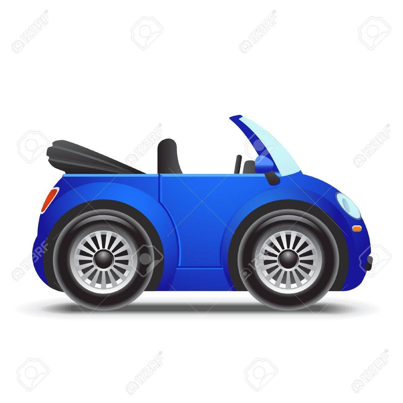 Blue cabriolet icon Stock Vector - 11659770