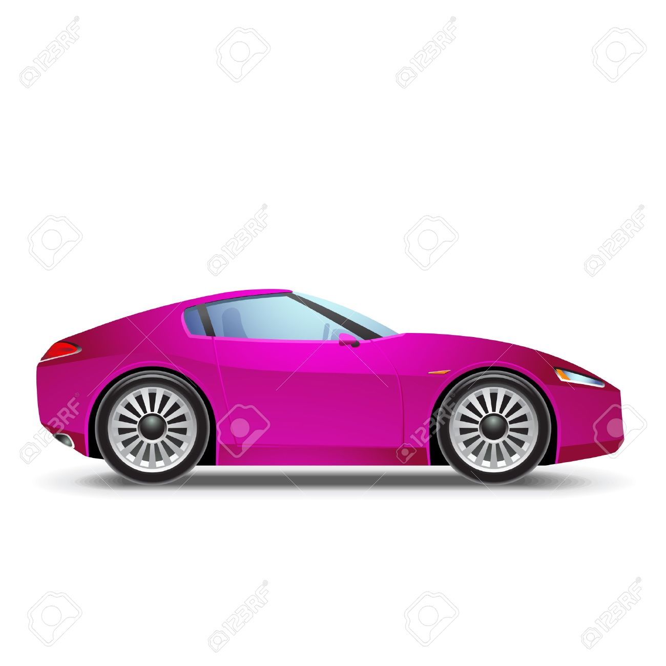 Pink Sport Car Royalty Free Cliparts Vectors And Stock