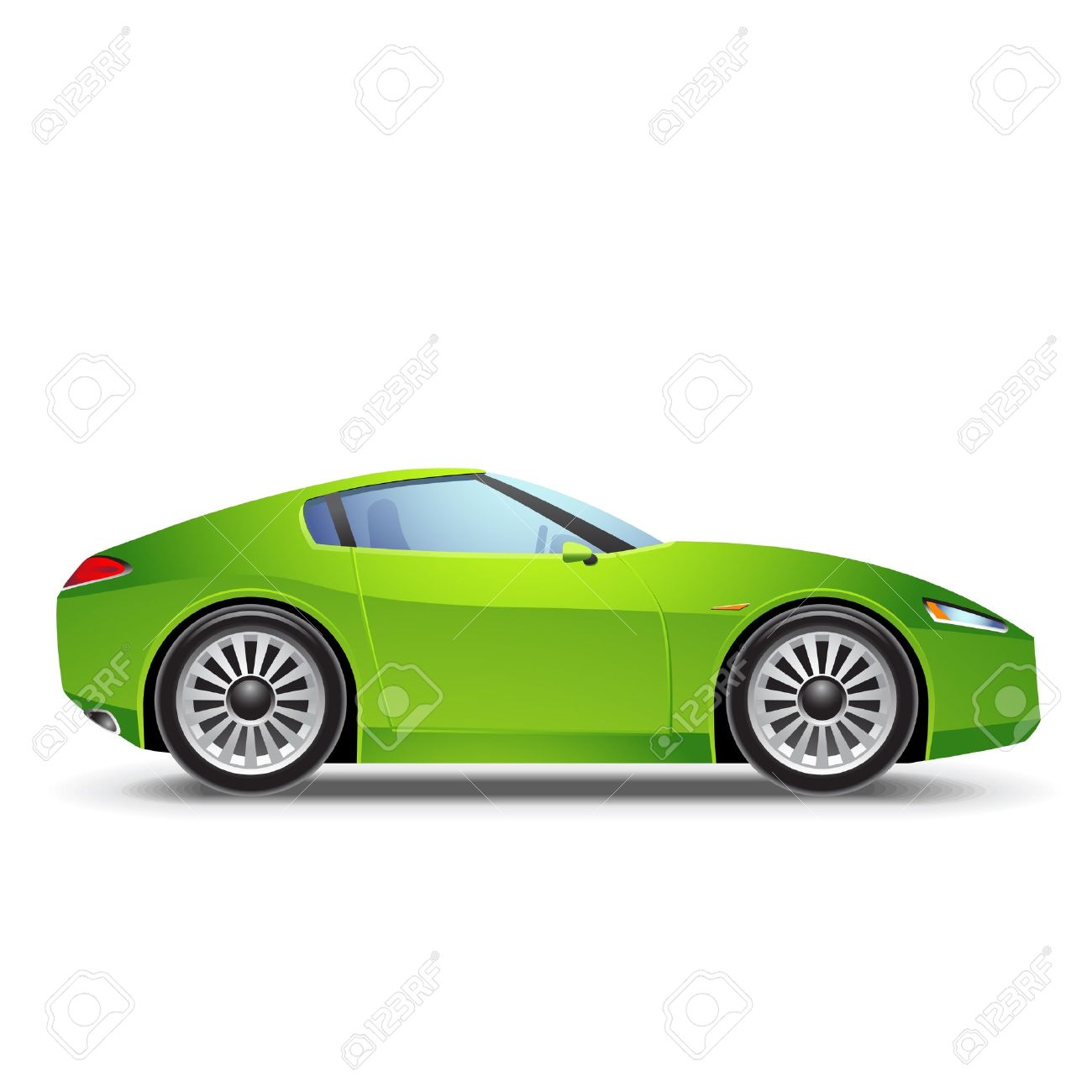 Green Sport car icon Stock Vector - 11657847