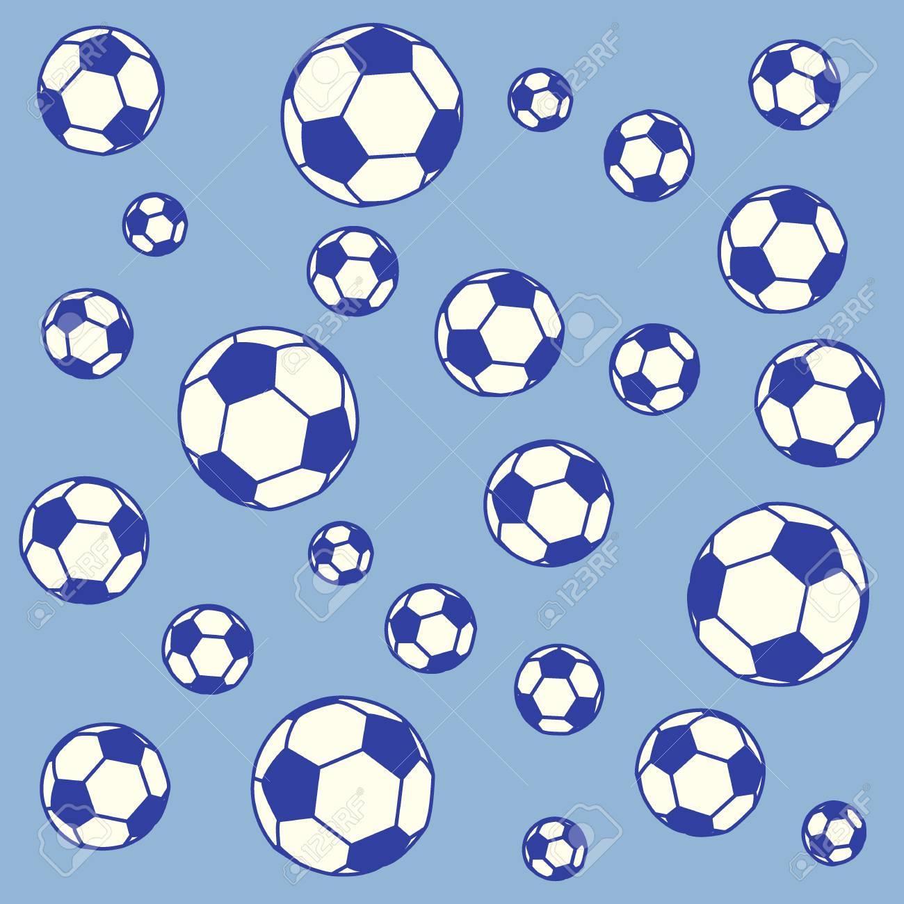 Buena foto de pelotas de fútbol de colores sobre un fondo de color Foto de  archivo deafa435f4caf