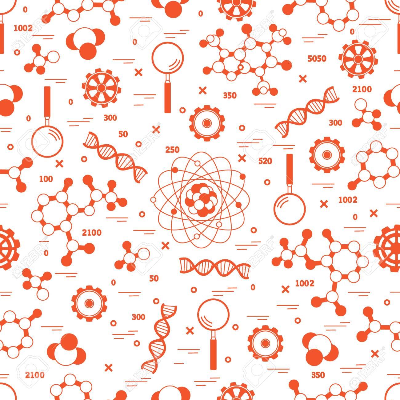 588ec4ca0a Archivio Fotografico - Modello senza cuciture con varietà scientifica,  elementi di educazione. Design per banner, poster o stampa.