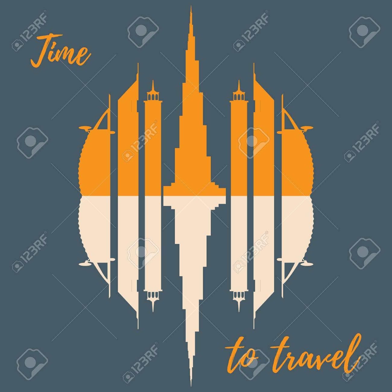 Vector illustration of united arab emirates skyscrapers silhouette vector illustration of united arab emirates skyscrapers silhouette dubai buildings design for banner biocorpaavc Images