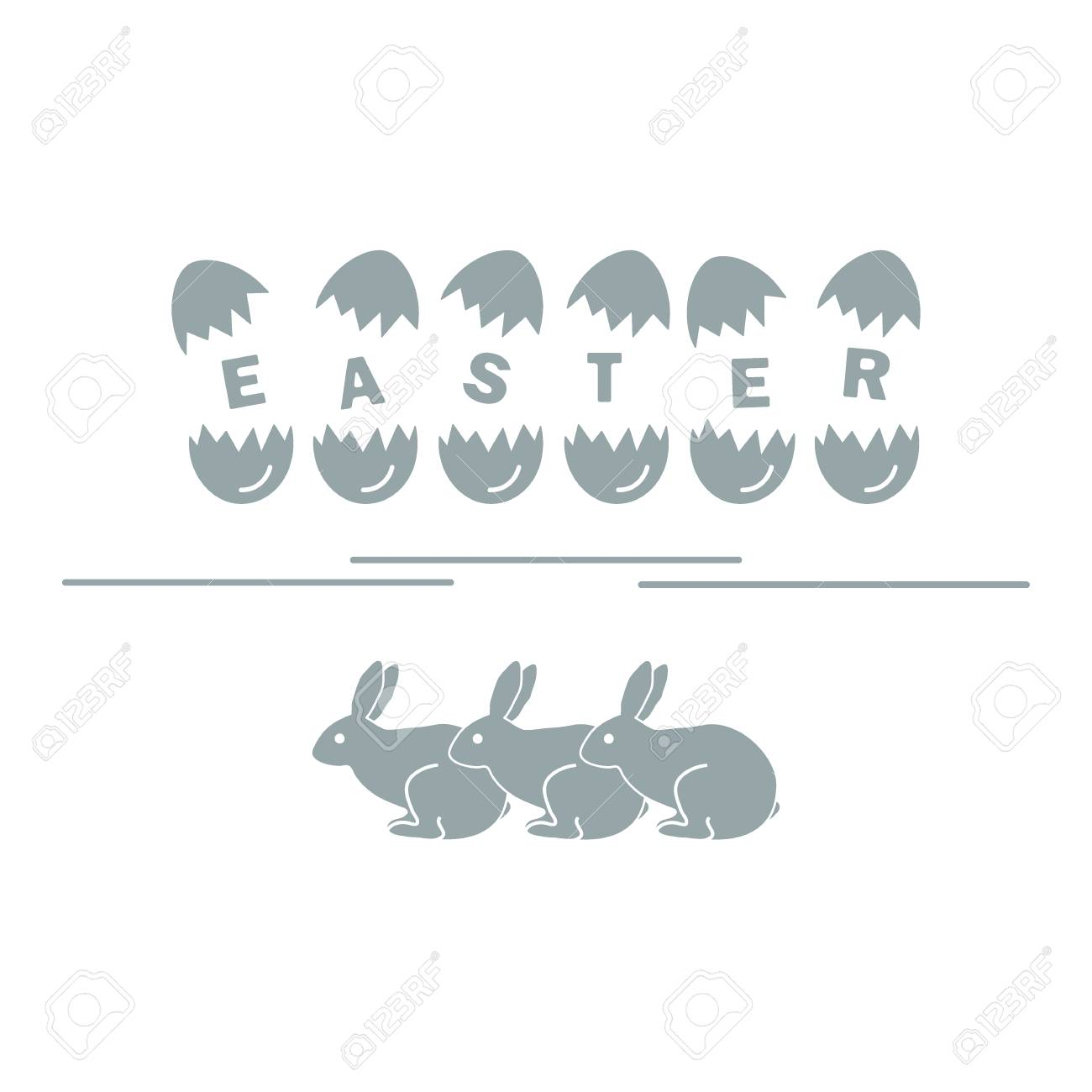 Cute Vector Illustration With Symbols For Easter Design For