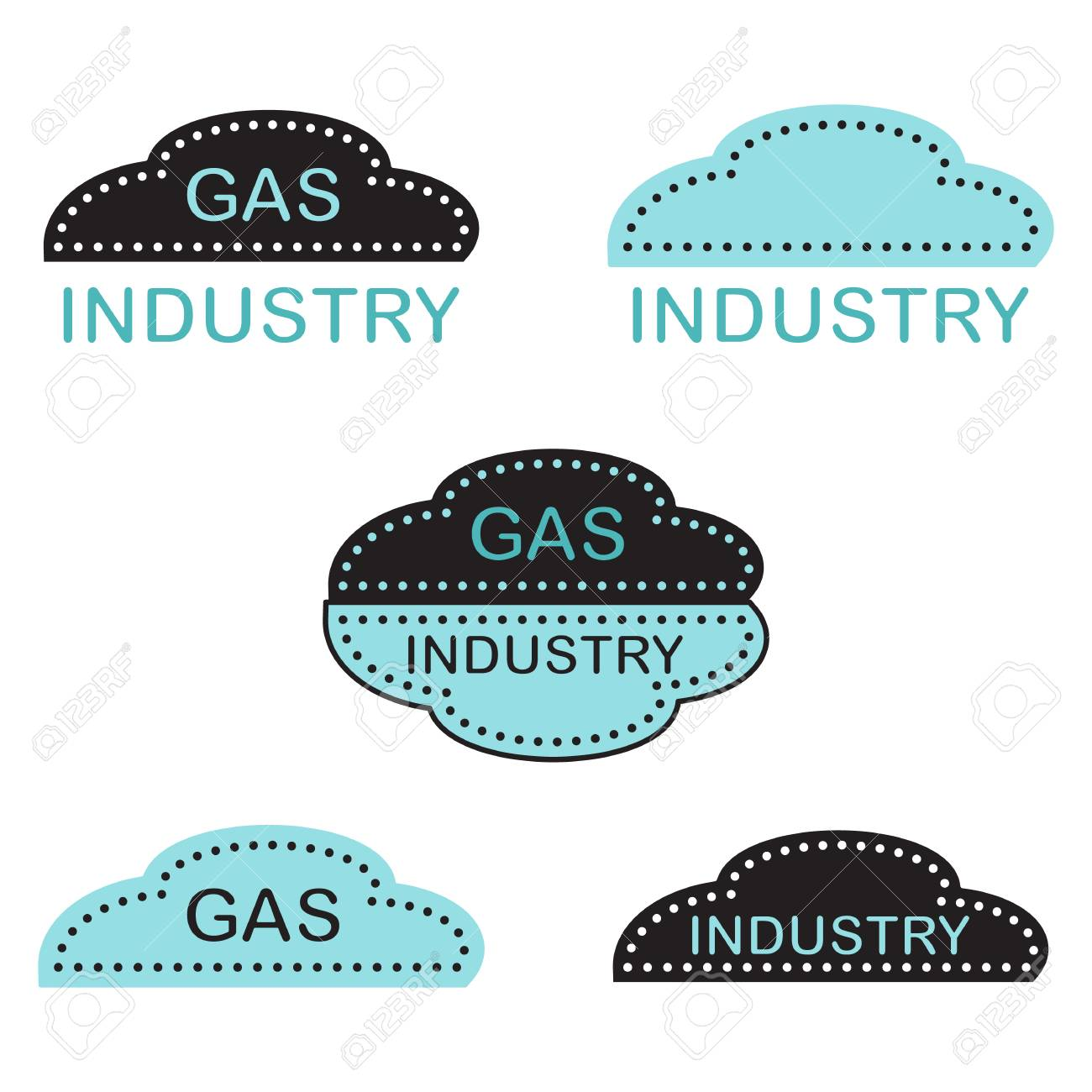 Label, stickers or logos of the gas industry  Design for announcement,