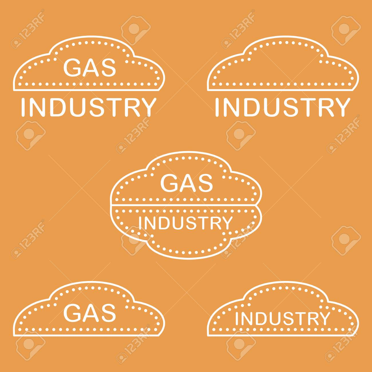 Label stickers logos of the gas industry design for announcement