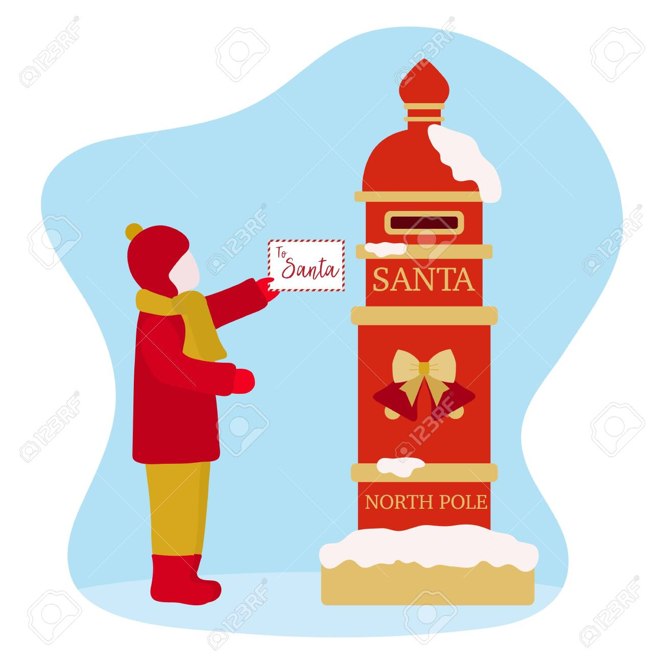 Christmas Wish List 2020.Happy New Year 2020 Merry Christmas Vector Illustration Santa S