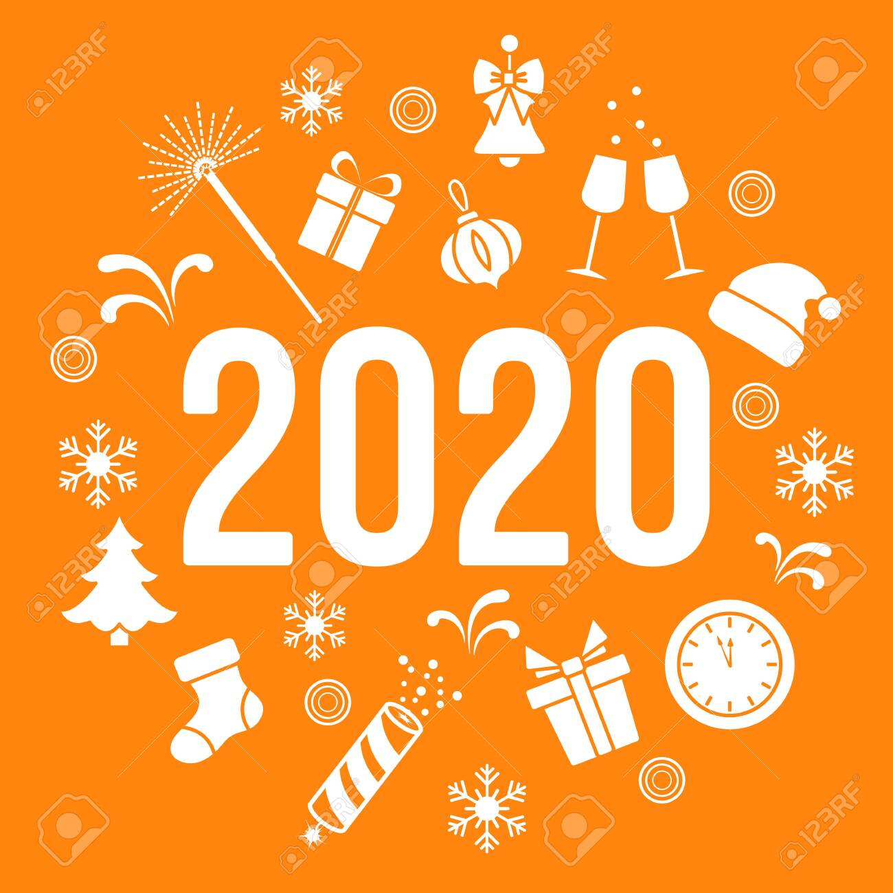 Happy New Year Orange 71