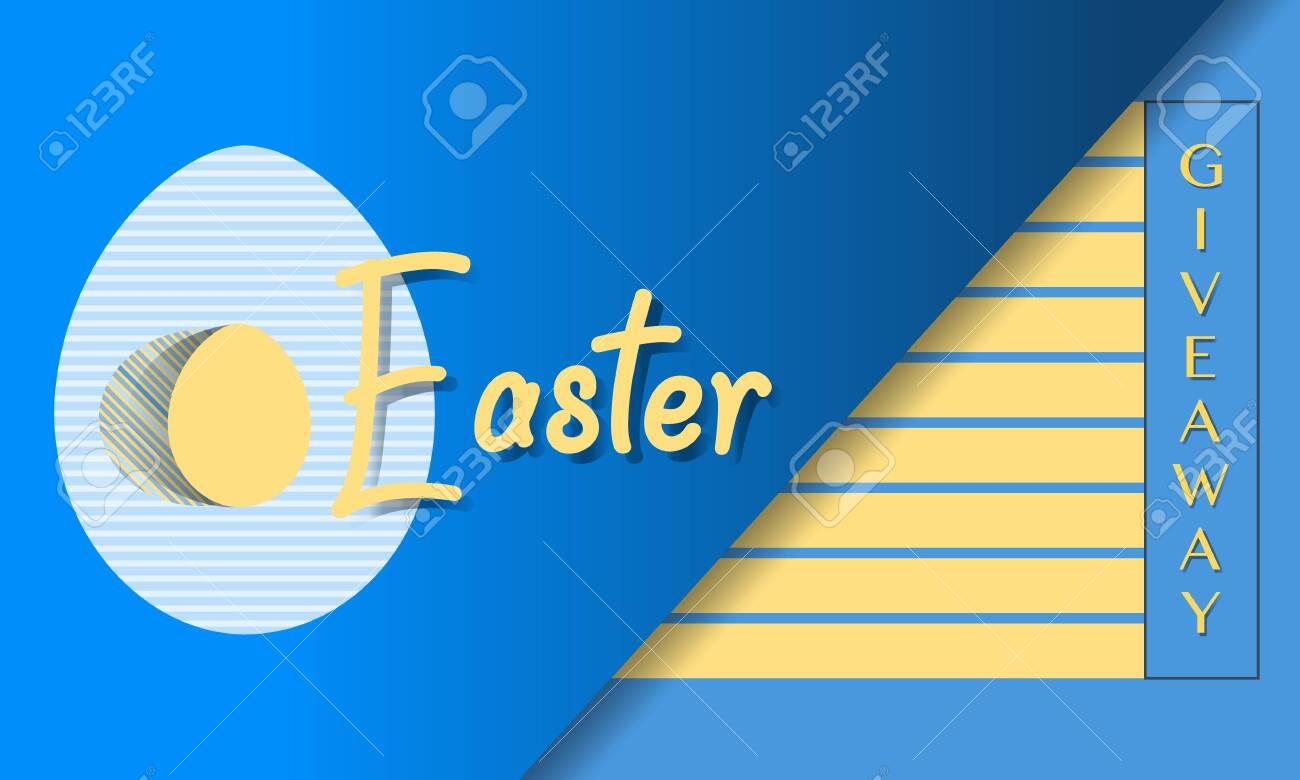 Vector illustration Easter egg Giveaway Promotion Gift Sale template Festive background Shopping Advertising concept Surprise Hunt for Easter eggs. Fun game. Design for banner, poster or print - 138496581
