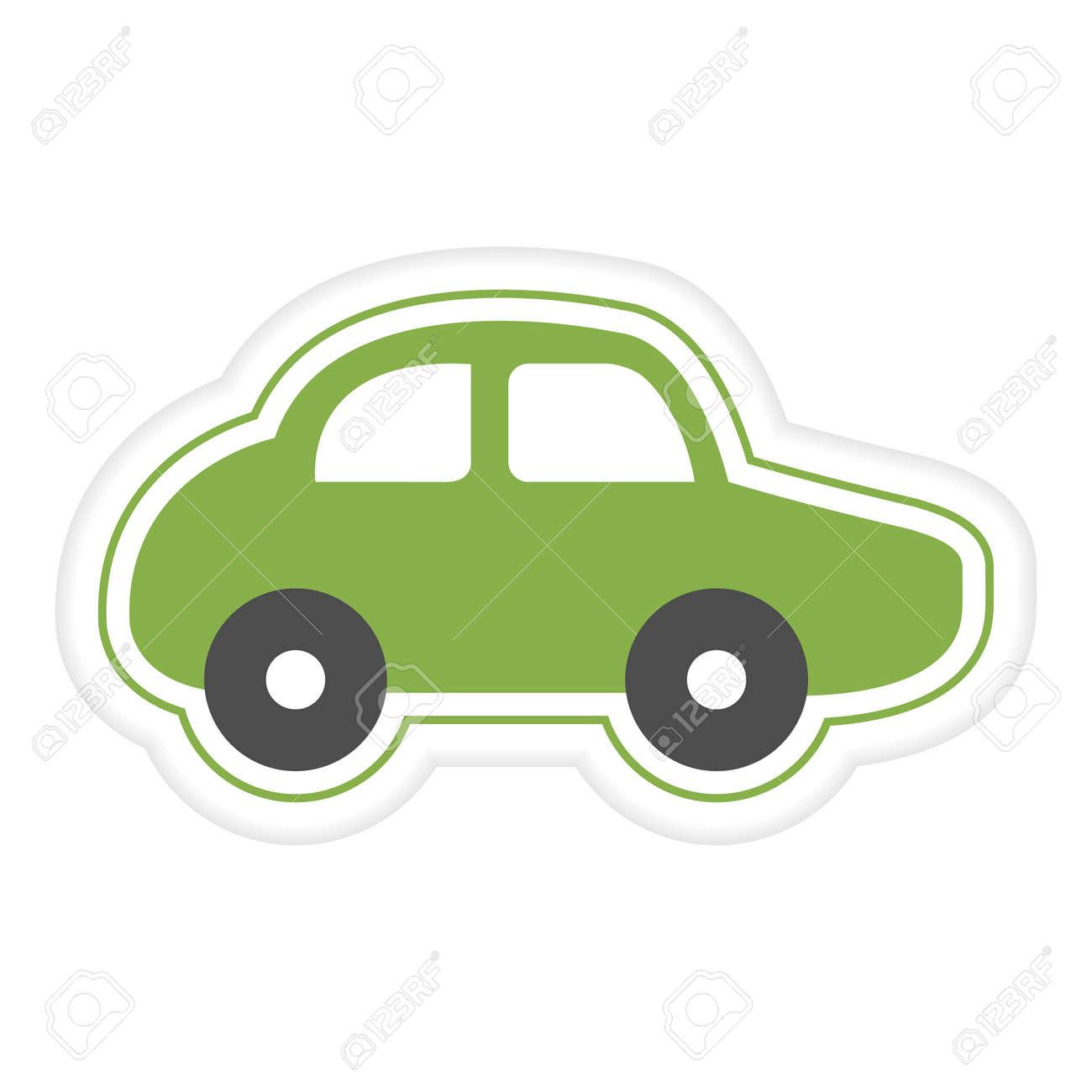 Vector illustration Kid toys Sticker Car. Primary school, elementary grade, kindergarten. Happy childhood. Activity. Game. Play. Automobile Vehicle Transportation Design for print - 170250153