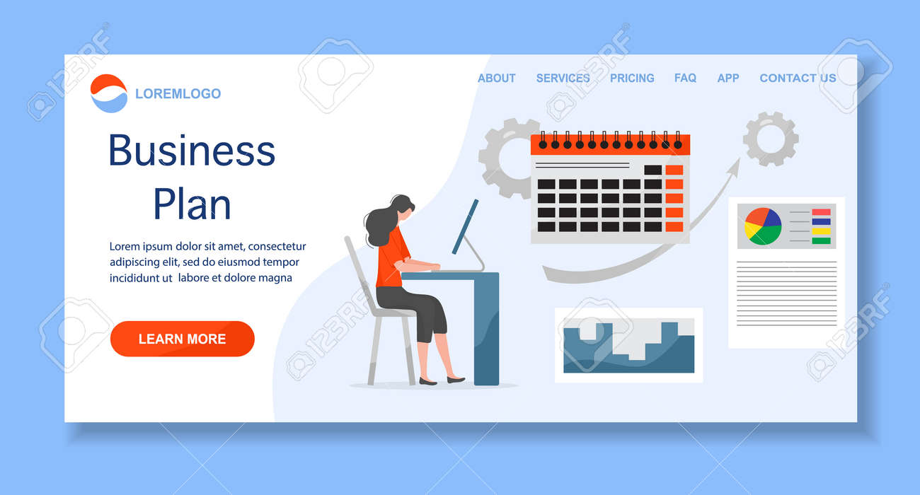 Vector illustration Profit growth planning, financial increase, development People Research, strategy selection, statistics, planning, marketing, study of performance indicators Business plan concept - 170250473