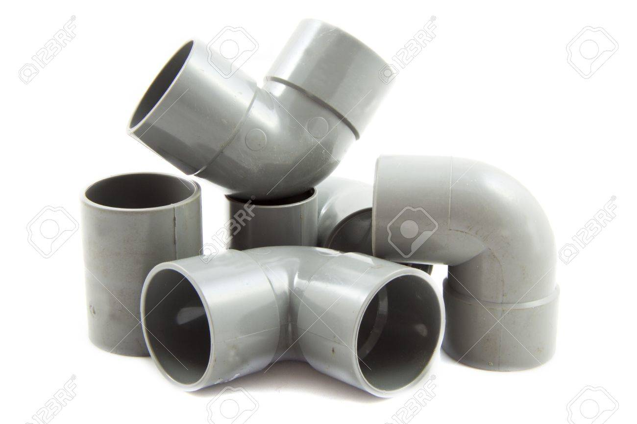 Pvc parts isolated on a white background Stock Photo - 9063594