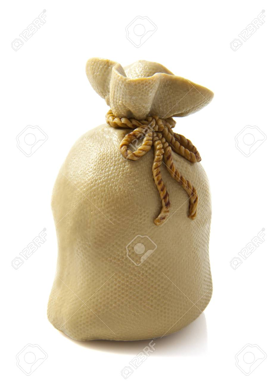 Full brown bag isolated on a white background Stock Photo - 9922428
