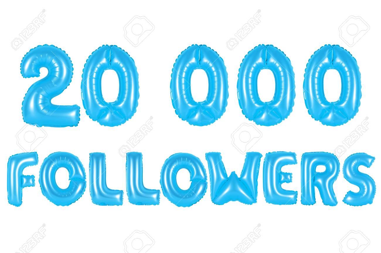 blue alphabet balloons 20k twenty thousand followers blue number and letter balloon