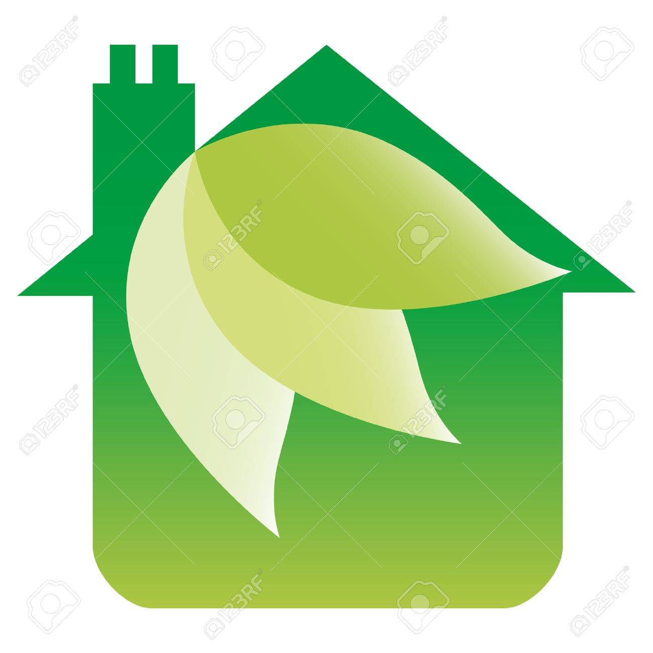 eco friendly house design royalty free cliparts vectors and
