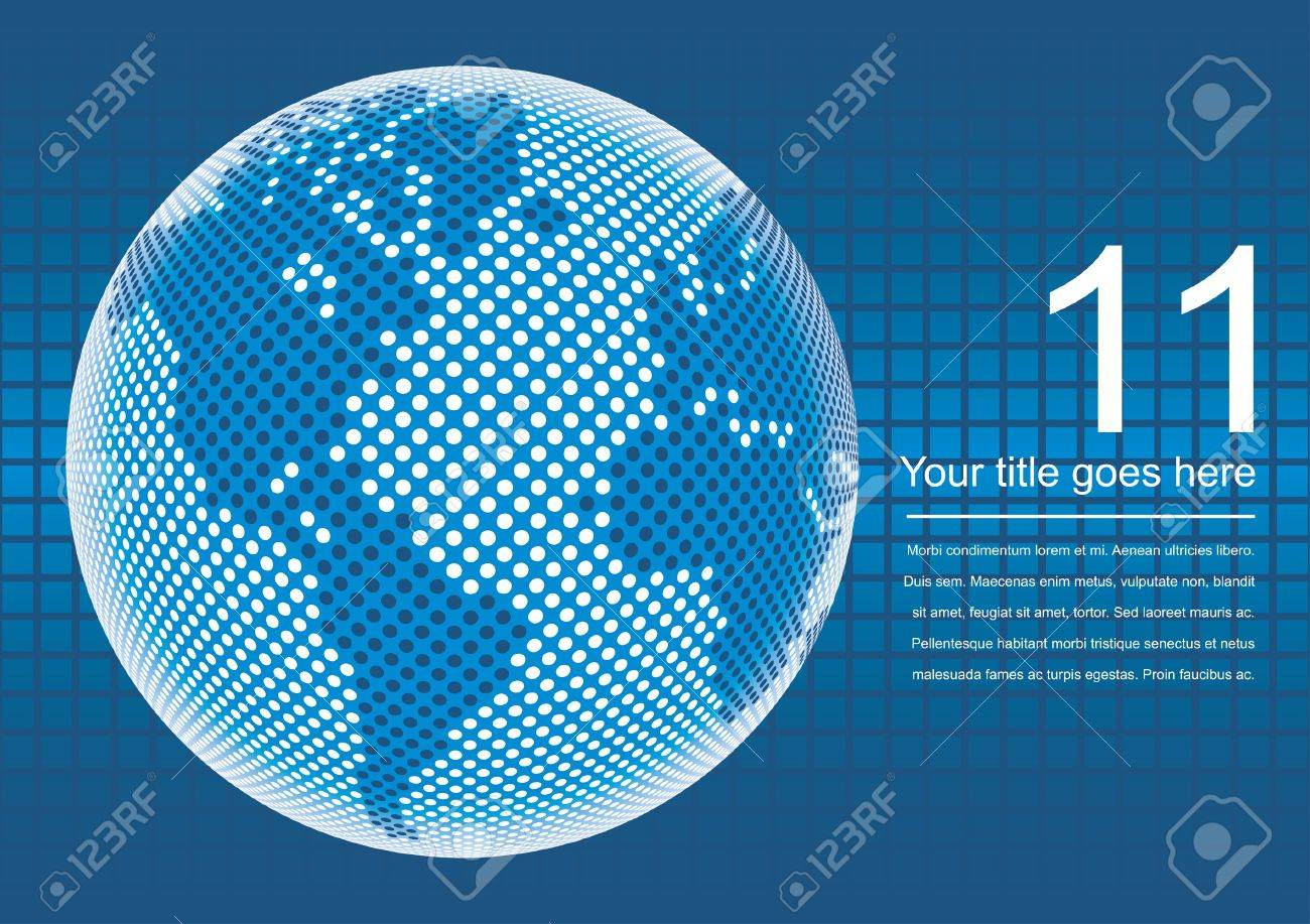 Digital world map with copy space vector. Stock Vector - 9720257