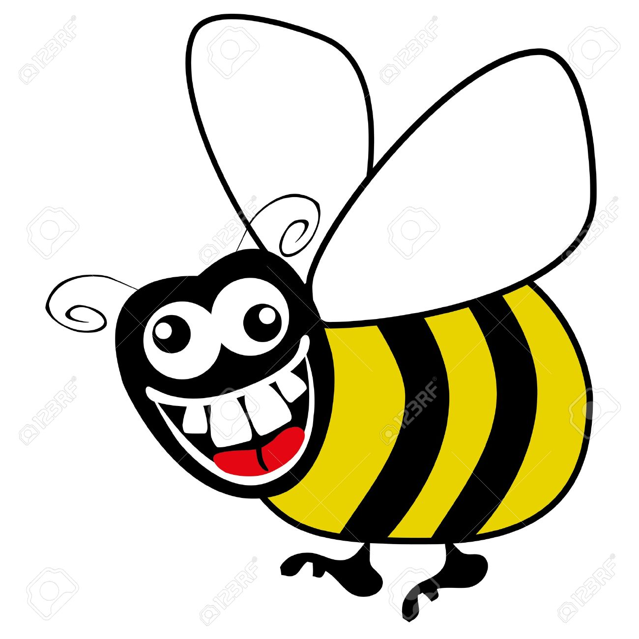 Crazy Hungry Bumble Bee Vector Royalty Free Cliparts Vectors And