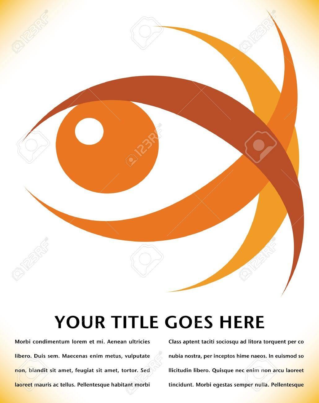 Striking eye design with copy space vector. Stock Vector - 10316713