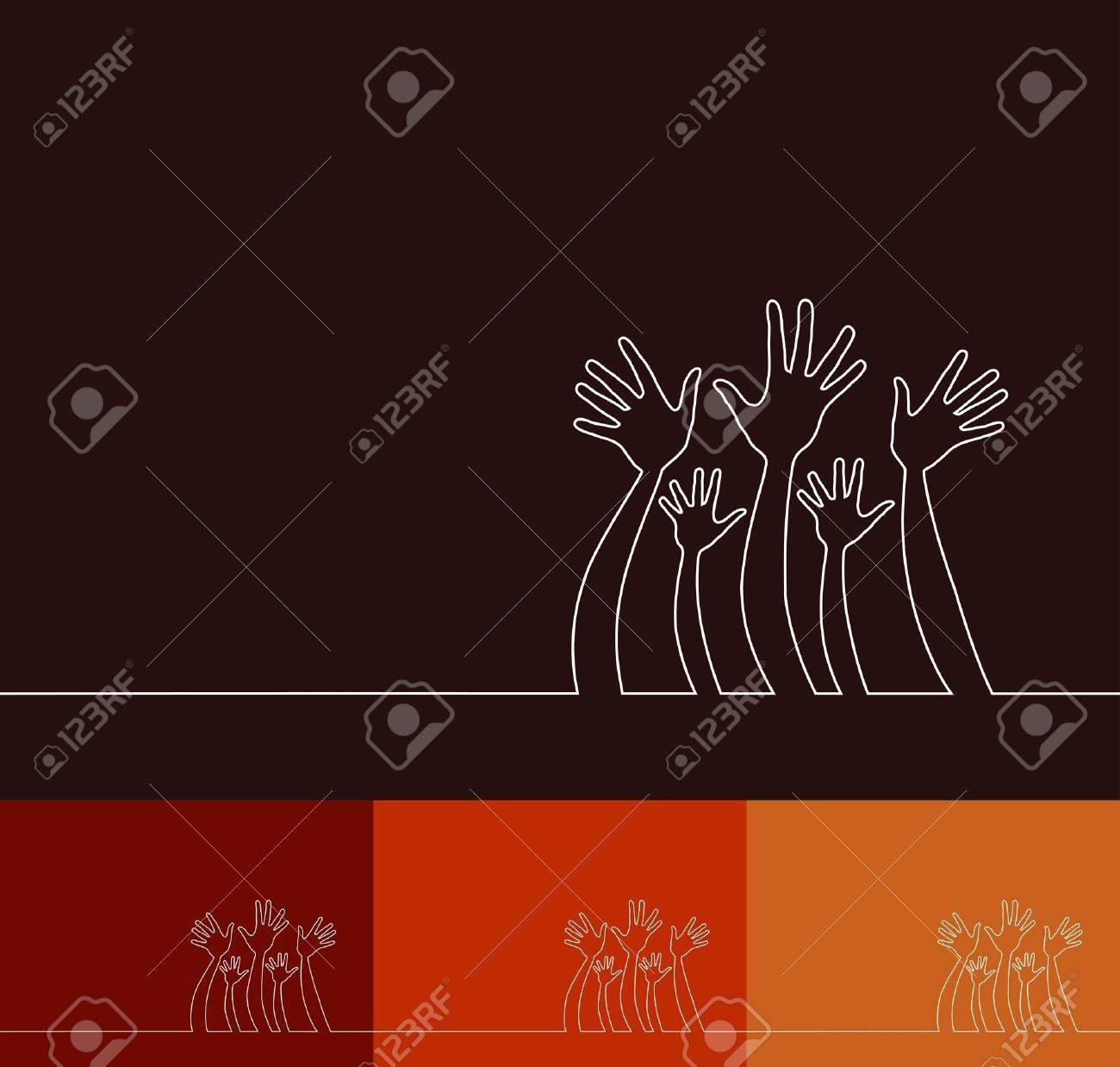 Simple line illustration of hands design. Stock Vector - 10809170