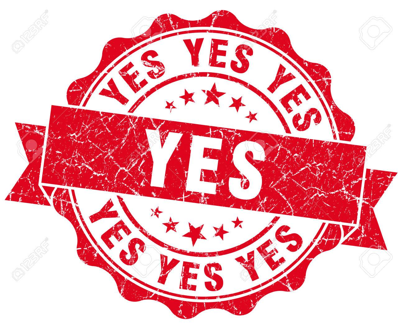 Yes Grunge Stamp Stock Photo - 22614093