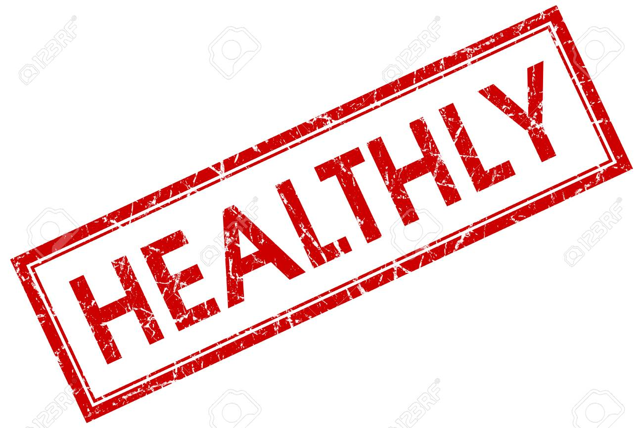 healthly square red grunge stamp stock photo picture and royalty