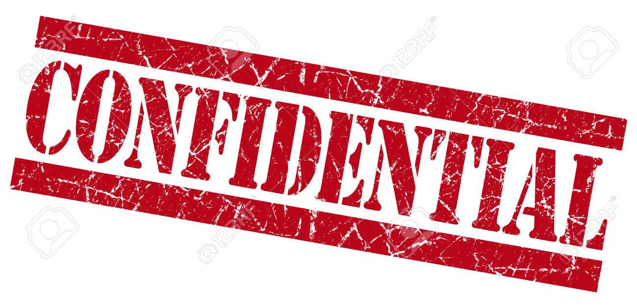 Confidential Red Grunge Stamp Stock Photo