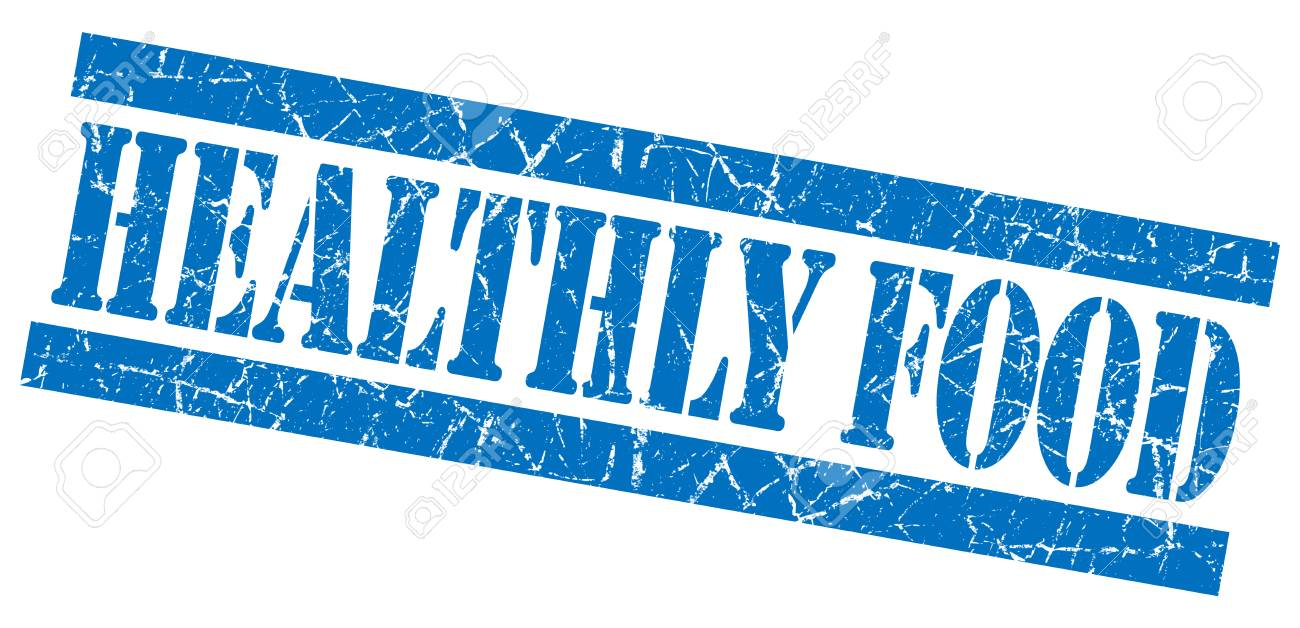 healthly food grunge blue stamp stock photo picture and royalty
