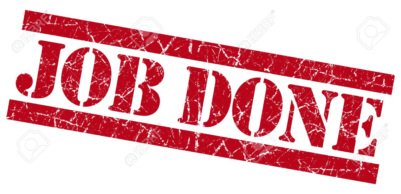 Job Done Grunge Red Stamp Stock Photo, Picture And Royalty Free ...
