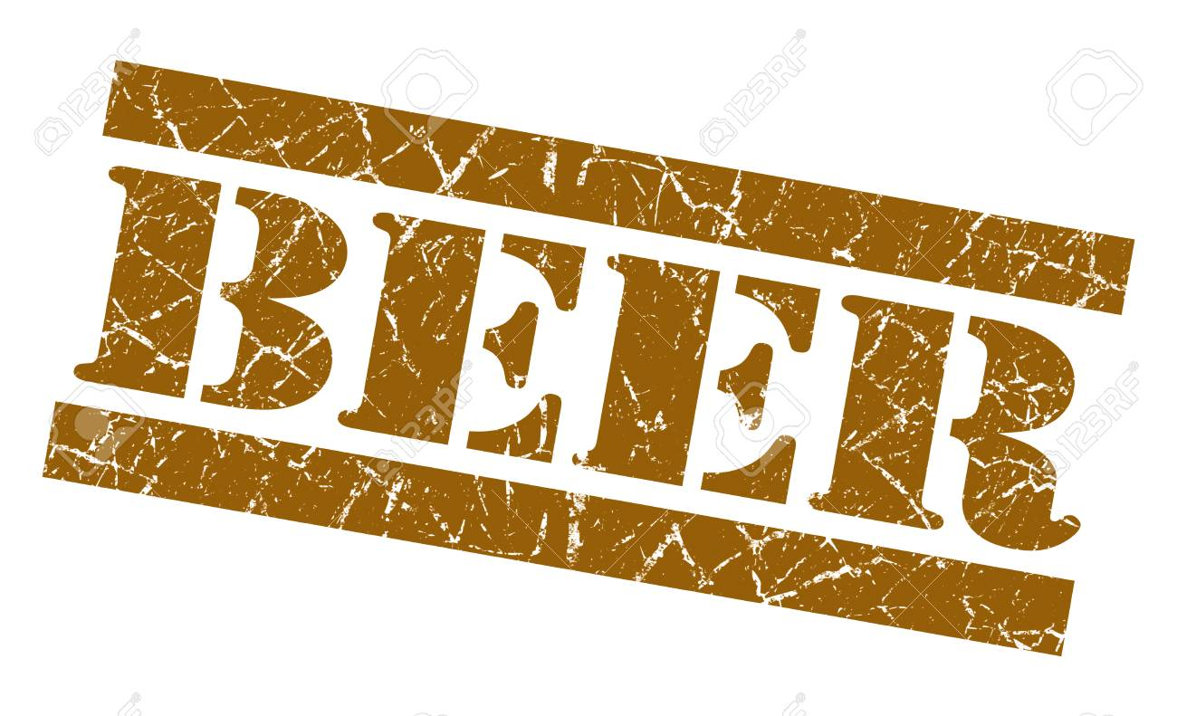 Beer grunge brown stamp Stock Photo - 23569773