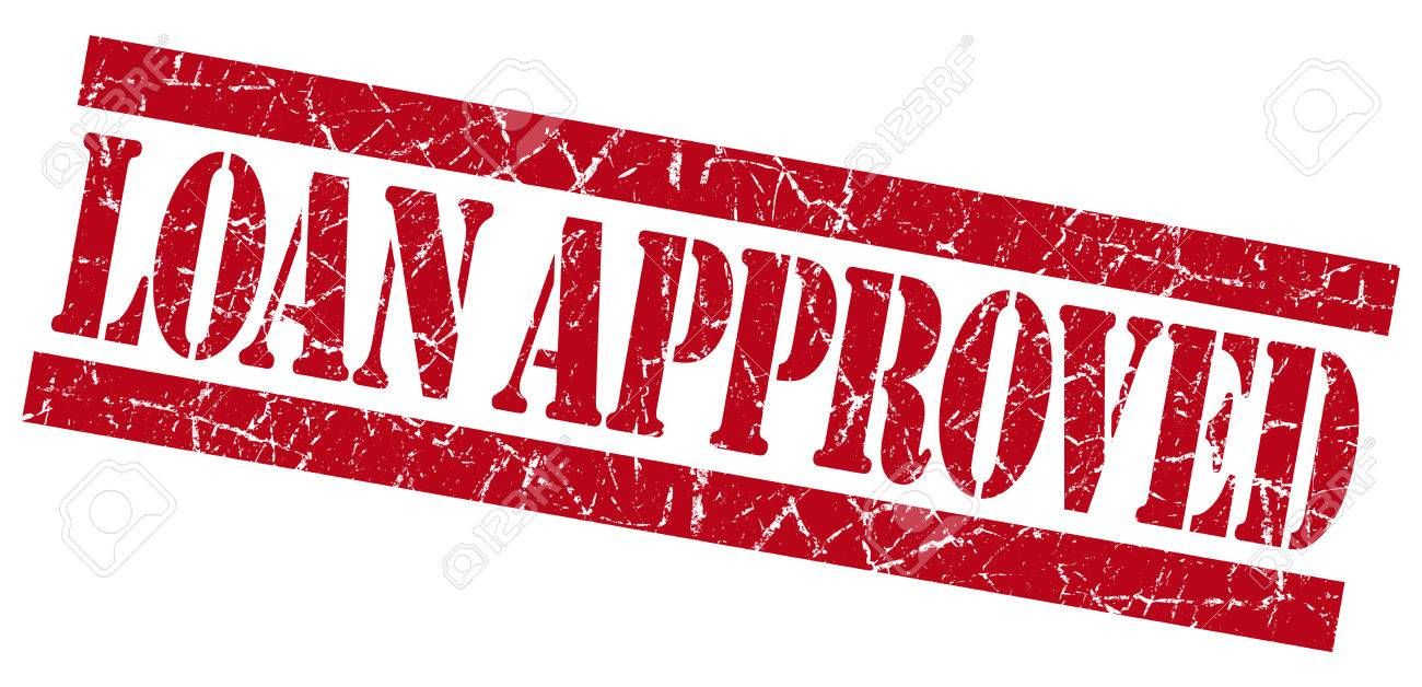 Loan approved grunge red stamp Stock Photo - 23569885