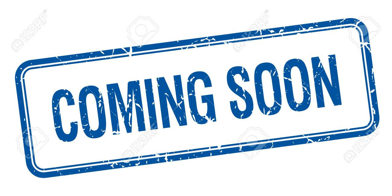 coming soon blue square grungy vintage isolated stamp - 38699965
