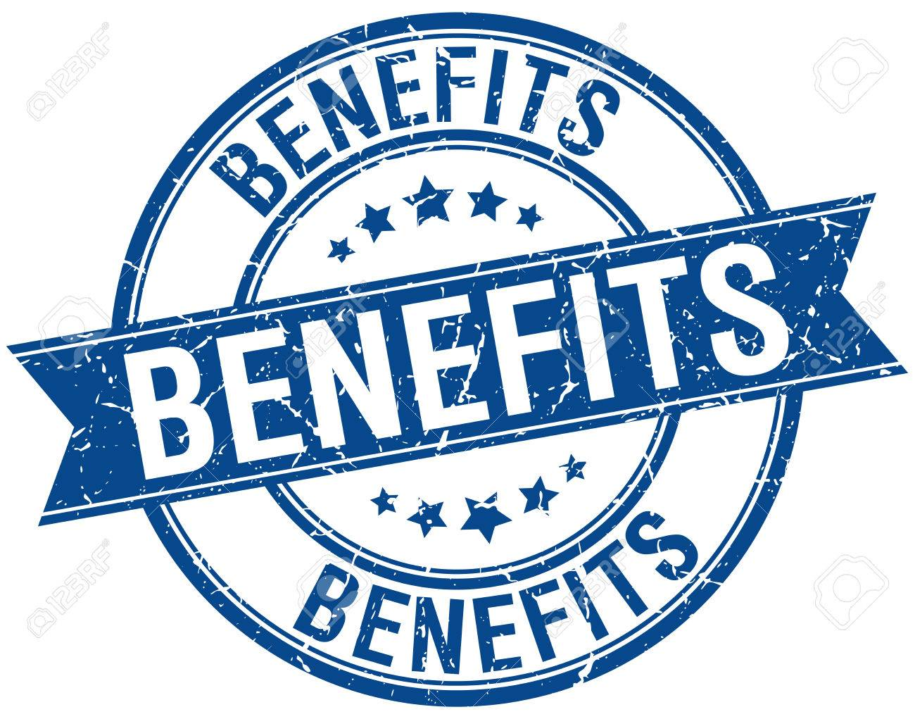 benefits grunge retro blue isolated ribbon stamp - 39119950